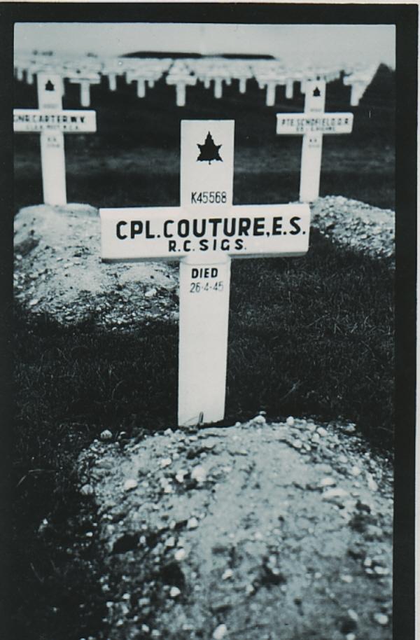 Grave marker of Edward Coture