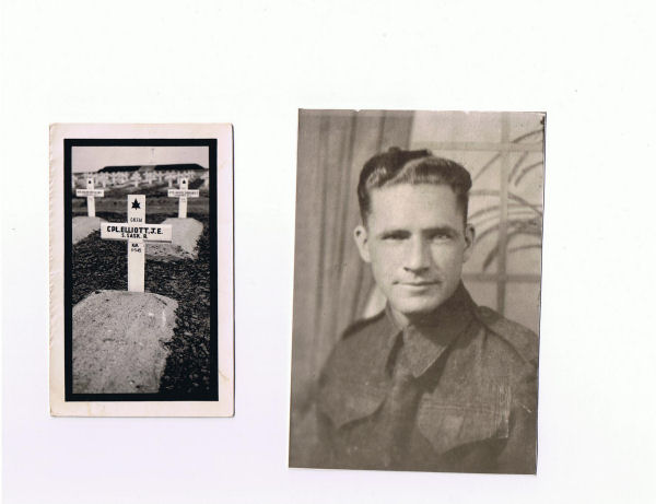 Grave marker and photo