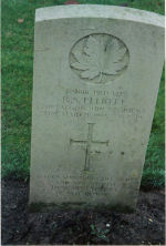 Grave Marker– Grave of Pvt. G-2616 Raymond S. Elliott of the Algonquin Regt.  KIA March 7th 1945 aged 19.