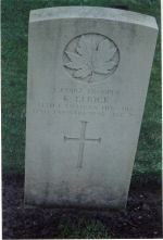 Grave Marker– Grave of Trooper L-107192 Keith Elrick of the 14th Can. Hussars,  He was KIA Jan. 12th 1945 aged 20.
