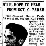"""Newspaper Clipping– TORONTO STAR """"Pages of the Past"""" online 1943, Sept 16"""
