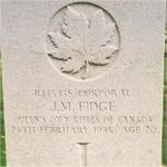 Grave Marker– This photo of Cpl Fidge's gravemarker was taken in June 2003.