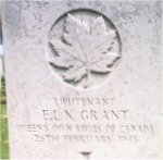 Grave marker– This photo of Lieut Grant's gravemarker at Groesbeek Cemetery was taken in June 2003.