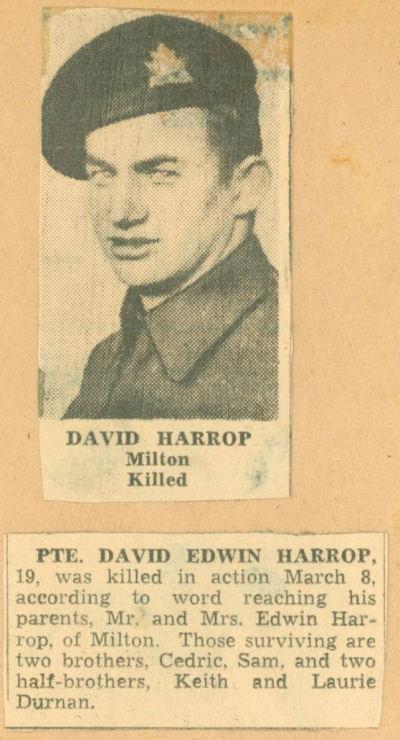Photo of DAVID EDWIN HARROP