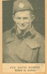 Photo of DAVID EDWIN HARROP– newspaper photo KIA