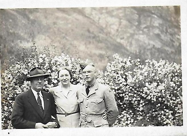 Photo of JAMES EARL HOOVER– Jim, with mother and father