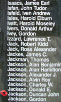 Memorial– Flying Officer Duncan John Jackson is also commemorated on the Bomber Command Memorial Wall in Nanton, AB … photo courtesy of Marg Liessens