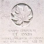 Grave Marker– This photo of Cpl Jones's gravemarker was taken in June 2003.