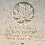 Grave Marker– This photo of Rfn Kachafanas's gravemarker was taken in June 2003.