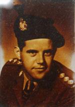 Photo of Harlan David Keely– Harlan David Keely in uniform.