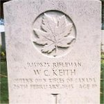 Grave Marker– This photo of Rfn Keith's gravemarker was taken in June 2003.