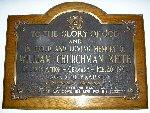 Memorial Plaque– Memorial plaque dedicated to William Churchman Keith.  Church of the Ascension, Hamilton, Ontario.