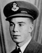 Photo of Ross Keller– Keller, Ross Whaley - Flying Officer, Born 18th February, 1922, in Egremont Township, Ont. Educated at Egremont & Normanby Public School and Durham High School. Entered the service of the Bank 1st March, 1940, Served at Durham, Ont. Enlisted 5th August, 1942, from that branch in R.C.A.F. Pilot Officer 29th October, 1943; Flying Officer 29th April, 1944. Trained at Hamilton, Ont., Lachine, Mont Joli, Victoriaville, Cap-dc-la-Madeleine and St, Hubert, Que., graduating with honours from the last-named school, Served at Bagotville, Que. Overseas in May, 1944. Served in British Isles and Holland, going to Holland 26th October, 1944. Killed on active service 1st January, 1945. From a memorial booklet prepared by the Canadian Bank of Commerce.