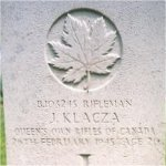 Grave Marker– This photo of Rfn Klacza's gravemarker was taken in June 2003.