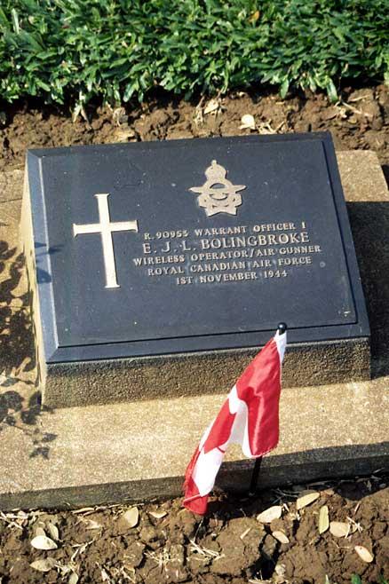 Grave marker of E. J. L. Bolingbroke