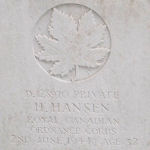 Grave marker– Photo provided by The Commonwealth Roll Of Honour Project. Volunteers Mike and Dale Symmonds