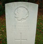 Grave Marker– Grave marker of Emanuel Ward Hartley in Brookwood Cemetery Taken on Remembrance Day 2010