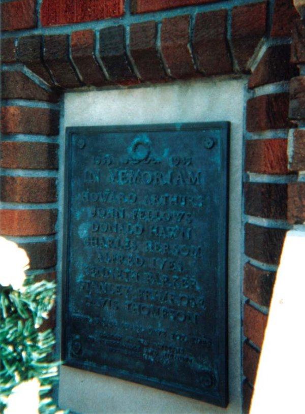 Detail of Streetsville Ontario War Memorial