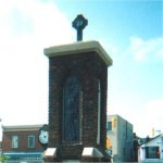 Streetsville Ontario War Memorial– Charles Earl Hersom's name is included on the Streetsville Ontario War Memorial.  The memorial was unveiled on July 1st, 1926 and restored in 1993. WW1 and WW2 names are included on the monument. Photo taken in 2002.