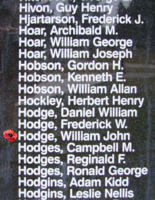 Memorial– Flight Sergeant William John Hodge is also commemorated on the Bomber Command Memorial Wall in Nanton, AB … photo courtesy of Marg Liessens