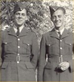 Photo of Clifford Horncastle– Picture of Clifford Horncastle with friend, Flt/Lt Fred Clarke.