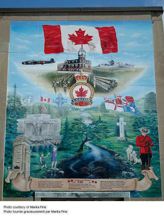 Preston Ontario Wall of Remembrance Mural