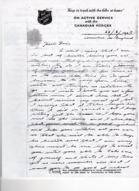 Letter (Page 1)