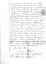 Letter (Page 2)– Page 2 of letter written to his oldest, a daughter named Doris. This letter was written the month before he died.