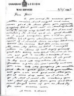 Letter– This is the last letter he wrote to his oldest daughter Doris. It was written on September 9, 1943. He died on September 29, 1943. He left a wife and 6 children, including a 9-month old baby behind.