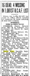 "Newspaper Clipping– Toronto Star ""Pages of the Past"" online.