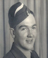 Photo of Archie McKell– Enlisted March 1943. Received his commission as Pilot Officer February 10, 1944