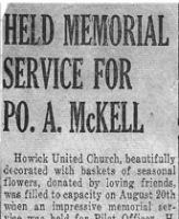 Newspaper Clipping– Memorial Service