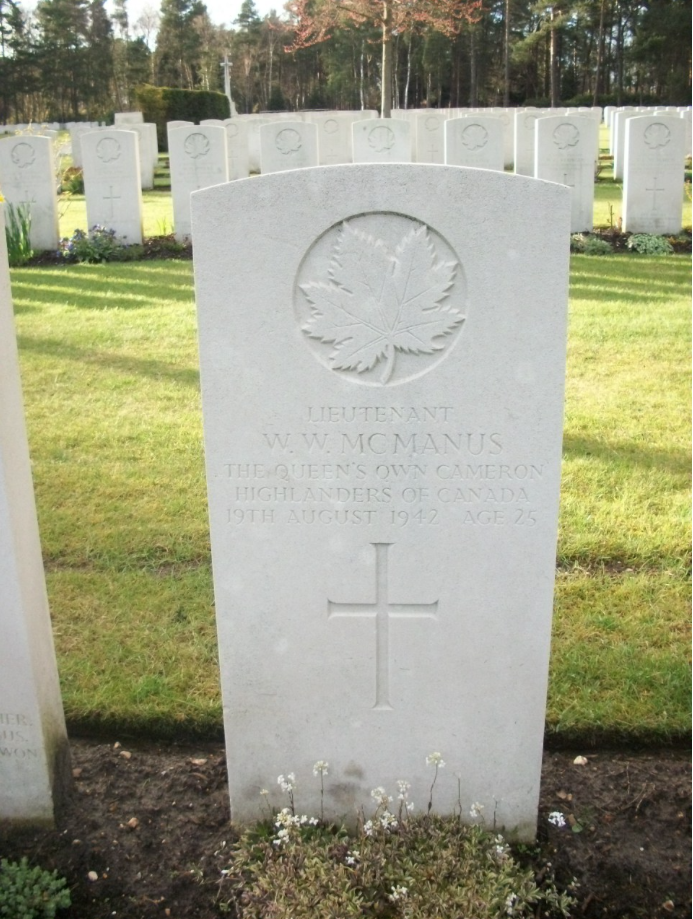 Grave Marker– William McManus 4th from left. Submitted for the project Operation Picture Me