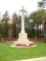 Cross of Sacrifice– Stone of Remembrance in Brookwood Cemetery Taken on Remembrance Day 2010