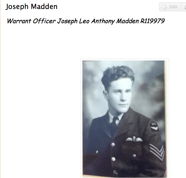 Photo of Joseph Madden– Submitted for the project, Operation: Picture Me