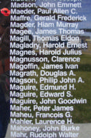Memorial– Flight Lieutenant Paul Allan Cornell Maeder is also commemorated on the Bomber Command Memorial Wall in Nanton, AB … photo courtesy of Marg Liessens