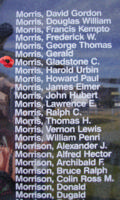 Memorial– Sergeant Gladstone Clifford Morris is also commemorated on the Bomber Command Memorial Wall in Nanton, AB … photo courtesy of Marg Liessens