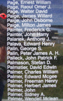 Memorial– Flying Officer James Willard Paige is also commemorated on the Bomber Command Memorial Wall in Nanton, AB … photo courtesy of Marg Liessens