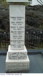 "Monument 2– ""Monument in Portugal Cove where Robert is commemorated."""