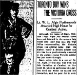 Newspaper Clipping– From the Toronto Star for 1 February 1919.