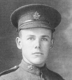 Photo of Clarence Allen– Clarence Allen Lance Corporal DOB May 31, 1896, Adolphustown, Ontario, Canada. DOD Oct 11, 1918, France.