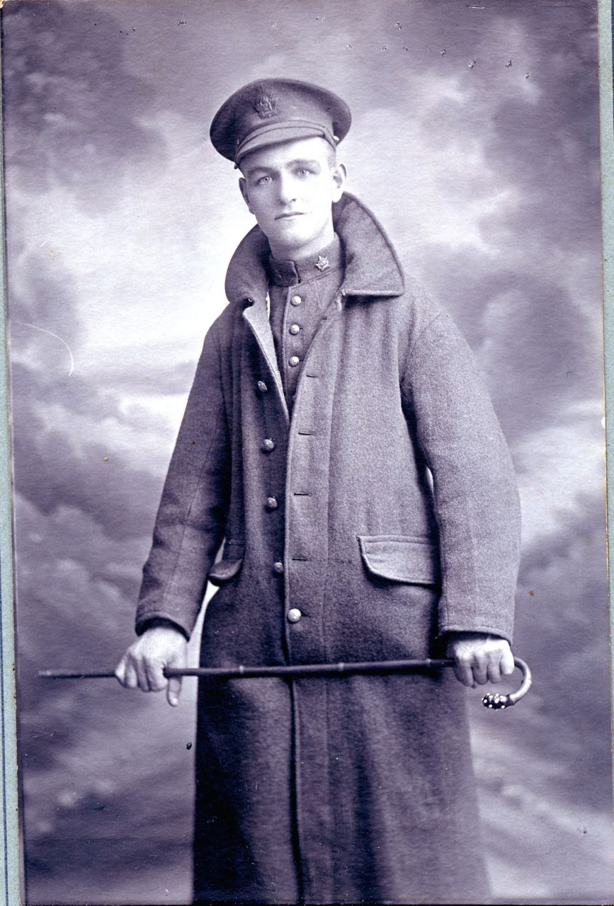 Photo of MATTHEW CRAIG– Matthew Craig, just before departing on the Metagama on May 15, 1915, Montreal