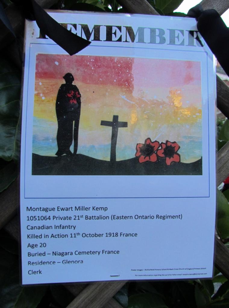Remembering– Rotherfield Parish War Memorial Service of Dedication 20th October 2018