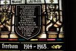 Memorial stained Glass– Saint Alban Anglican Church, Prince Albert, Saskatchewan