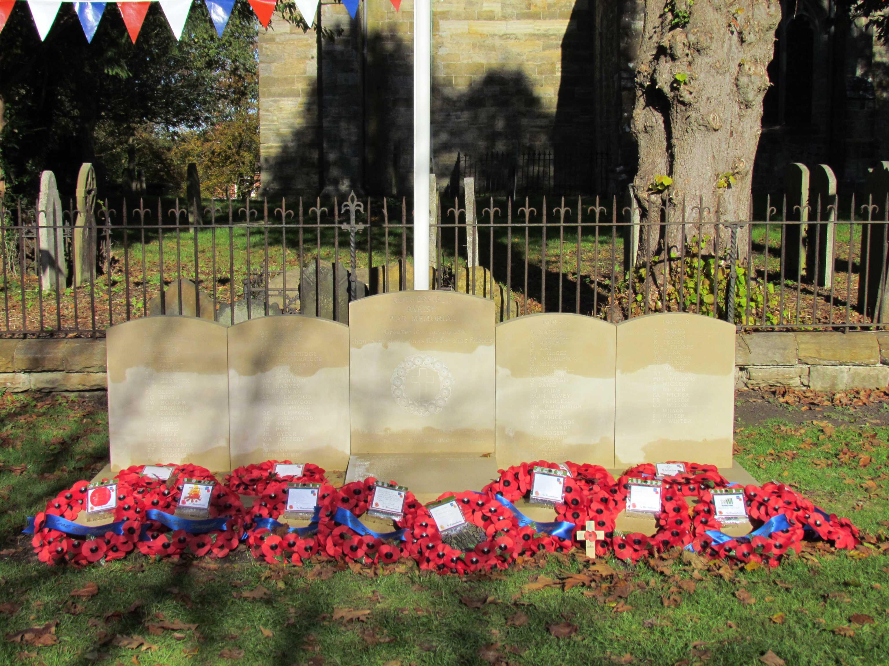 War Memorial– Rotherfield Parish War Memorial Service of Dedication 20th October 2018