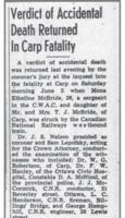 Newspaper clipping– Ottawa newspaper clipping.