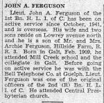 Newspaper clipping– Death Notice. Image courtesy City of Cambridge Archives