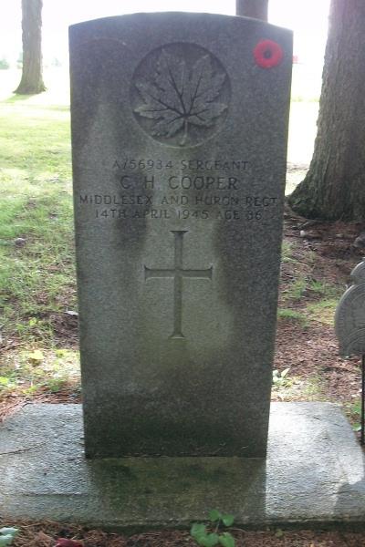 Grave Marker– Grave marker - Clinton Cemetery - September 2017, photo courtesy of Marg Liessens.
