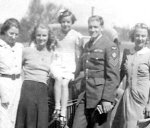 Family photo– From left To right: Helen Ricketts (Aunt), Eileen Green (Sister), Eunice Ricketts (Cousin), Hugh Lorne Green and Rhoda Delilah Green (Sister).  Photo taken in 1942.