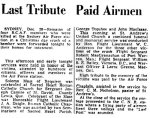 Obiturary– Last Tribute printed in Halifax Mail Newspaper, December 29, 1942.